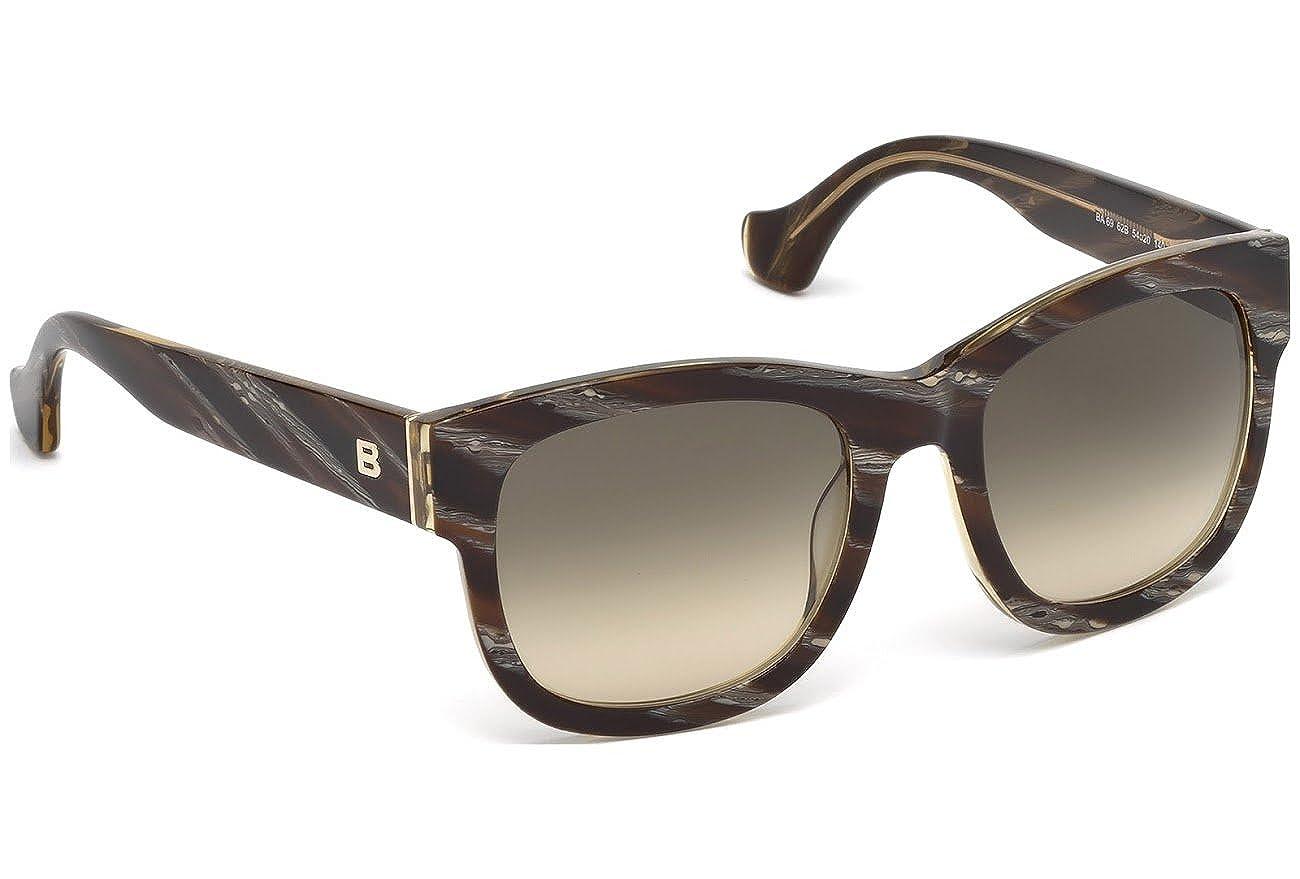 gradient smoke Sunglasses Balenciaga BA 69 BA0069 62B brown horn