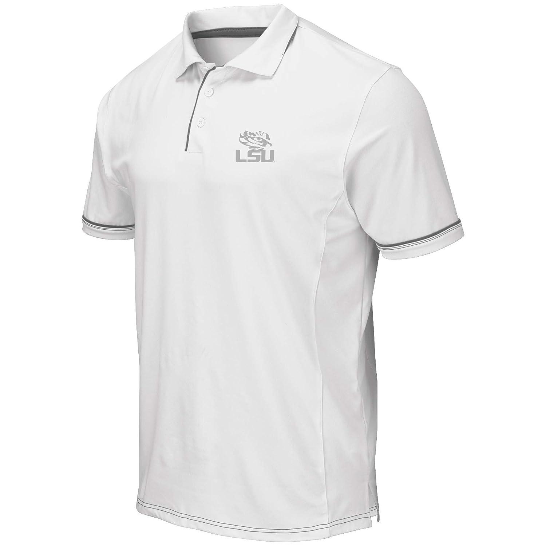 Colosseum メンズ NCAA-Ice- ゴルフ/ポロシャツ-ホワイト Large LSUタイガーズ B07PHMN4T7