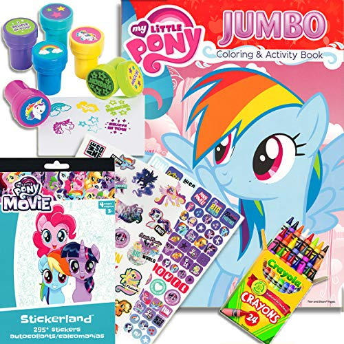 My Little Pony Coloring & Activity Book with MLP The Movie Stickers, Crayons and Stampers