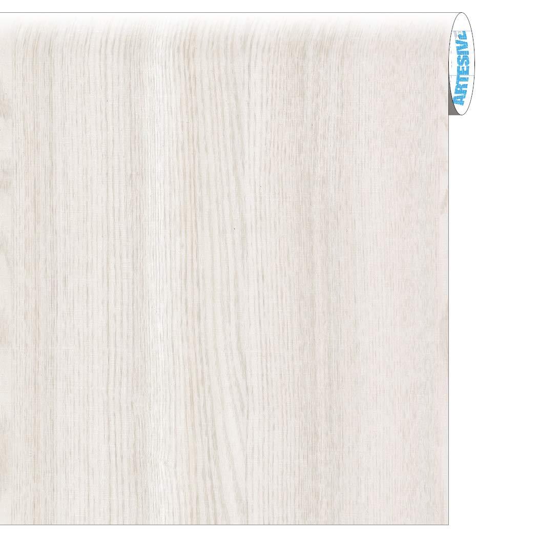 ARTESIVE WD-001 Roble Blanco Mate 60 cm x 2,5 MT. - Película Adhesiva