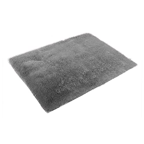 60 90 Cm Soft Fluffy Rugs Anti Skid Shaggy Area Rug Dining: Grey Fluffy Rugs: Amazon.co.uk
