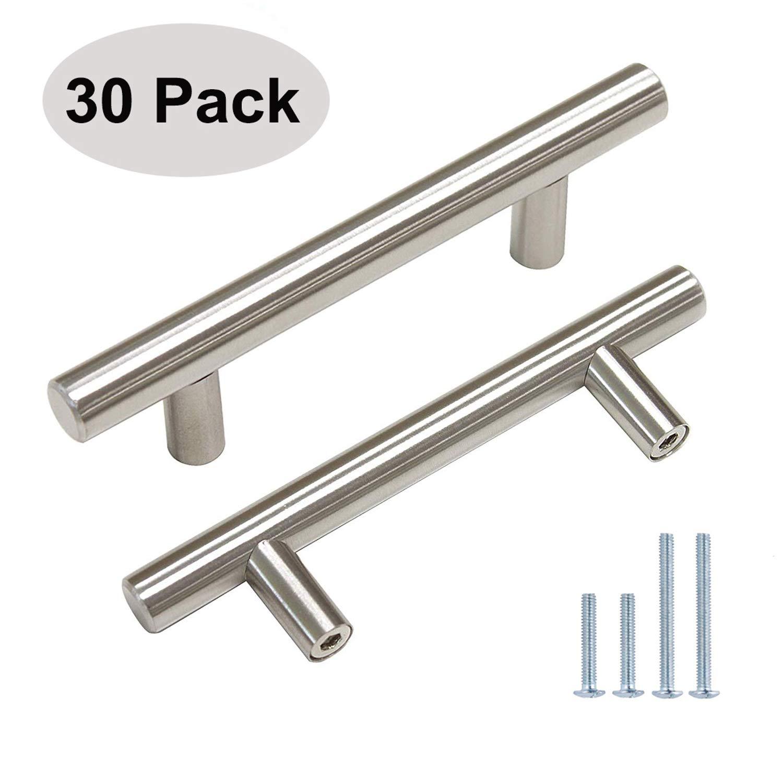 "3-3//4/"" CC Brushed Nickel Handle Pull Bar Dresser Wardrobe Cupboard Pack of 25"