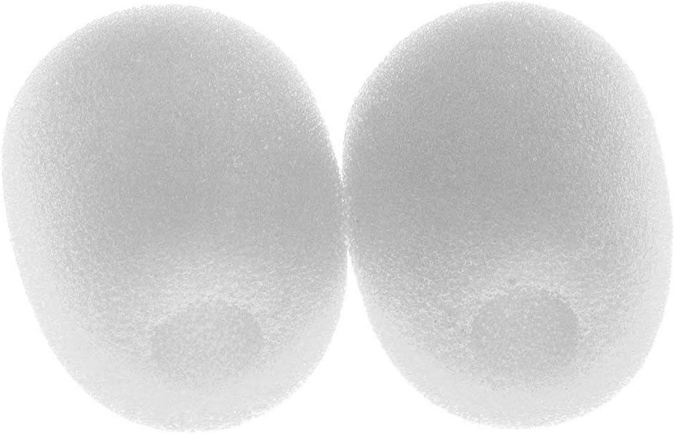 protecci/ón para micr/ófono 28 x 22 x 8 mm color blanco 10 piezas peque/ñas de solapa