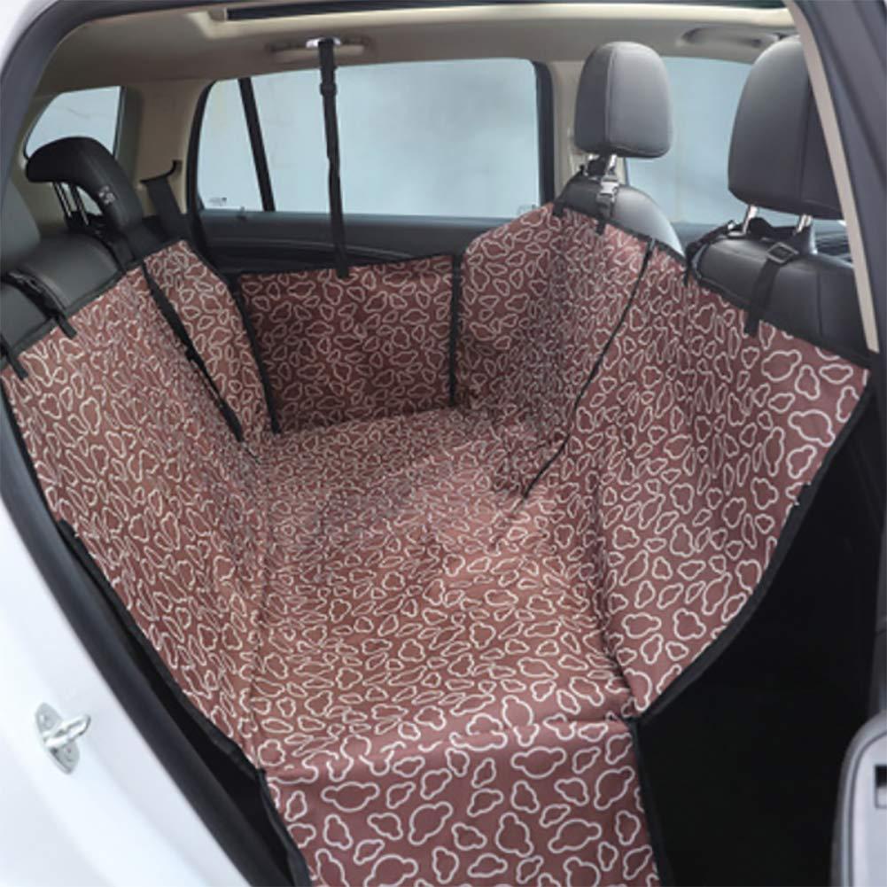 Brown RUIX Dog Car Seat Pet Car Mat Dog Car Seat Waterproof