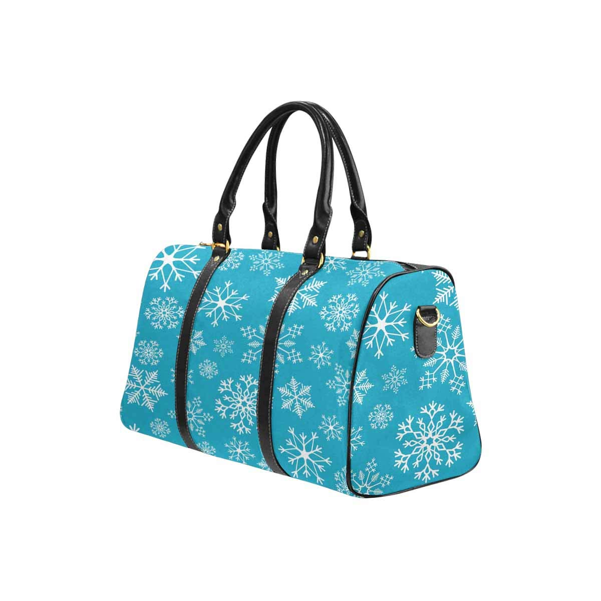 fc96a106b60 Amazon.com: INTERESTPRINT Large Duffel Bag, Flight Bag Gym Bag Snowflake  Simple Pattern: Shoes
