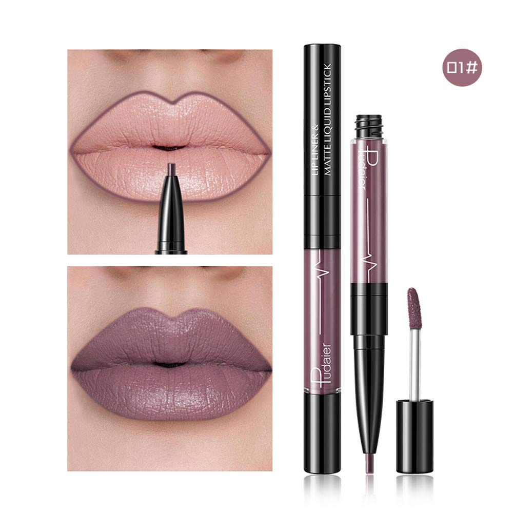 Becoler 16 Color Double-end Lipstick Lasting Lipliner Waterproof Lip Liner Stick Pencil Becoler Lipstick