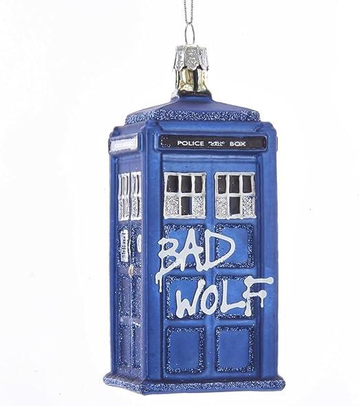 Kurt Adler 4.5 Doctor Who Glass Gingerbread TARDIS Ornament