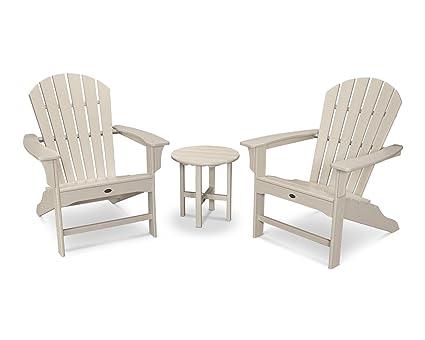 Exceptionnel Trex Outdoor Furniture Cape Cod 3 Piece Adirondack Set In Sand Castle