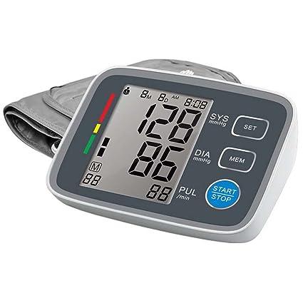 Tensiómetro de Brazo Eléctrico Monitor Digital de Presión Arterial LCD Pantalla para Lectura Fácil Función de