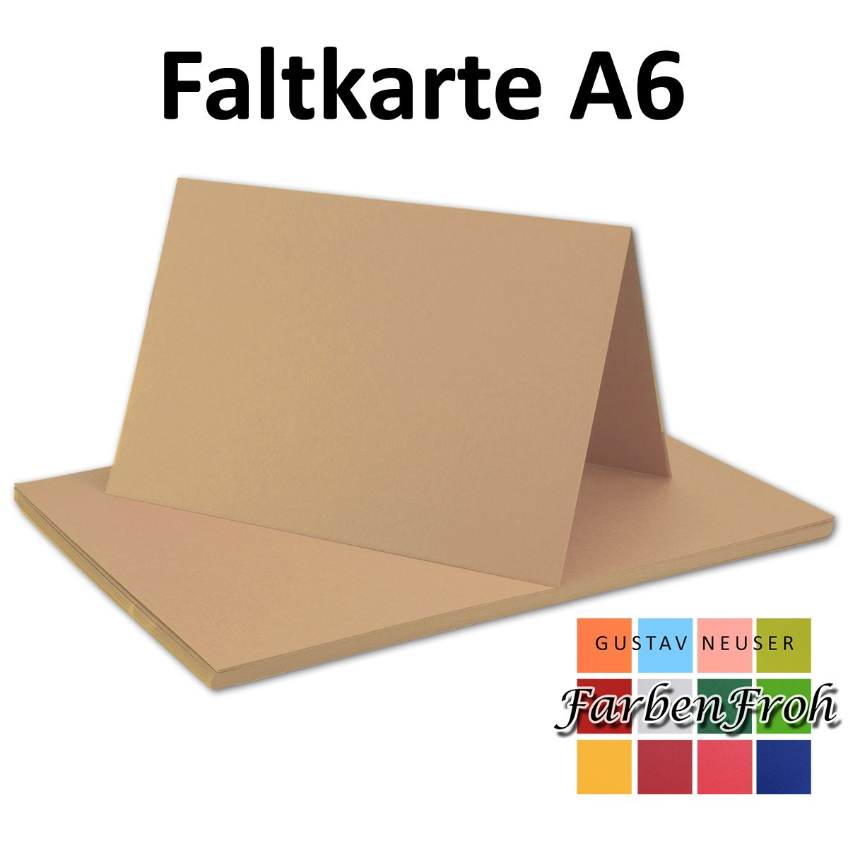 150x Falt-Karten DIN A6 Blanko Doppel-Karten in in in Vanille -10,5 x 14,8 cm   Premium Qualität   FarbenFroh® B078W4JD2K | Auktion  4221f5