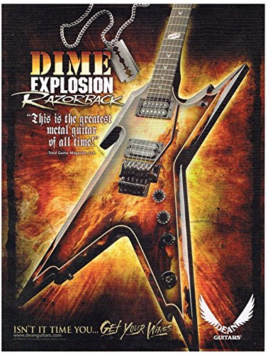 Dean Guitars - Dime Explosion Razorback - Dimebag Darrell - 2007 Print Advertisement