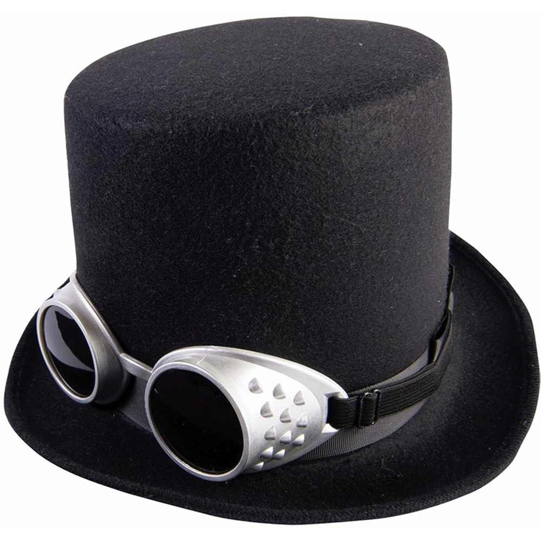 Célèbre Amazon.com: Steampunk Black Top Hat with Silver Goggles: Clothing YG09