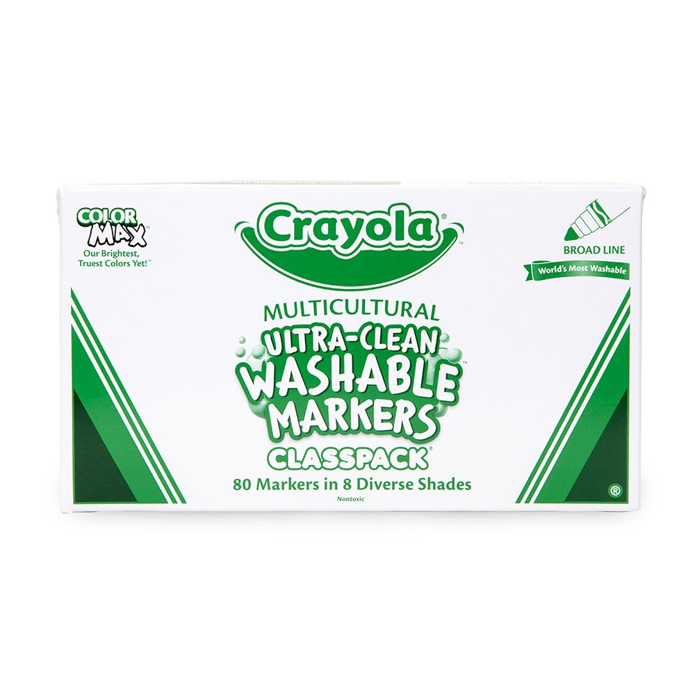 Amazon.com: Crayola; Classpack; Ultra-Clean; Multicultural Broad ...