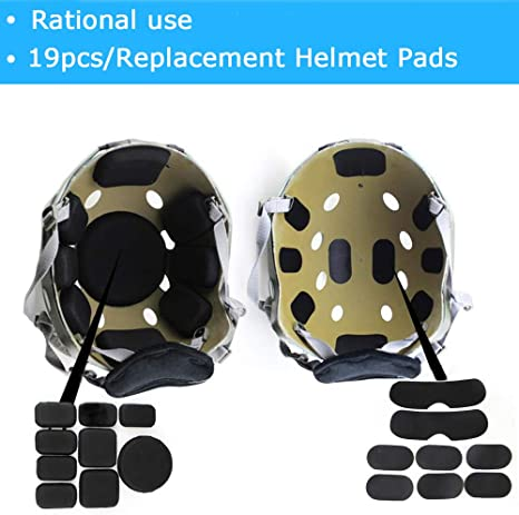 Tactical Airsoft Helmet Internal Memory Foam Protection Mat Sticky Pad USA