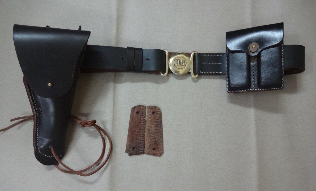 US WWII M1916 .45cal Pistola de 1911 Pistola Funda, Cinturón, Ammo ...
