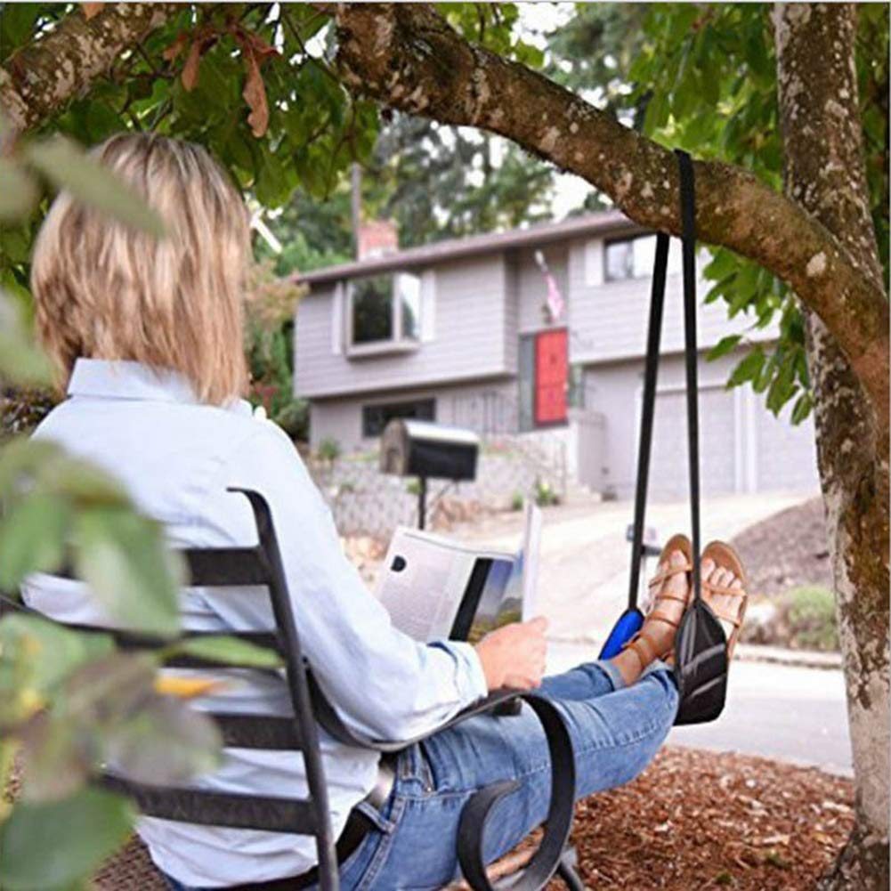 For Outdoor Indoor Garden Camping Sleeping Load GSYClbf Portable Plane Train Travel Office Lazy Foot Rest Hammock Hanging Leg Pillow Pad Breathable,Quick-Drying Parachute