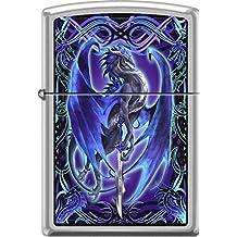 RARE Ruth Thompson Stormblade Dragon Satin Chrome Zippo Lighter …