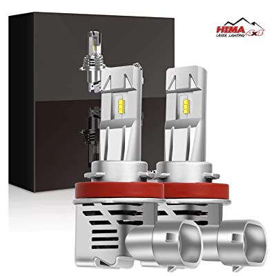 H11 H9 H8 LED Headlight Bulbs, HIMA4X4 55W 10000LM Lumileds Chip Original Factory Bulbs Replacement Conversion Kit With Fan Xenon White All In One Pack Of 2: Automotive