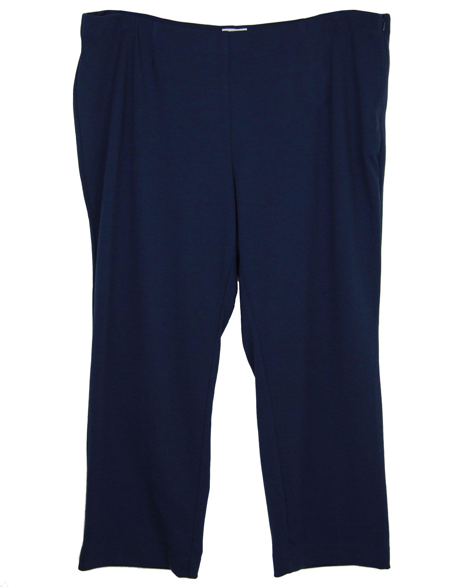Charter Club Women's Plus Side Zip Straight Leg Pants 24w Intrepid Blue