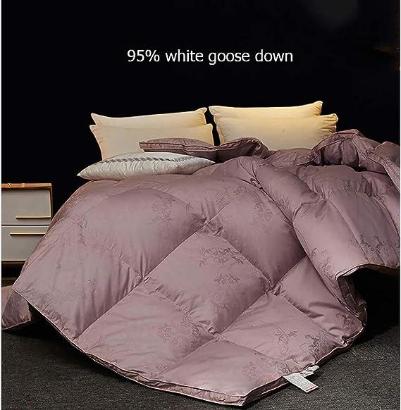 Tissu De Coton Pur,BlueA-200X230cm3kg Couette En Duvet Doie Blanche Literie Double//Simple
