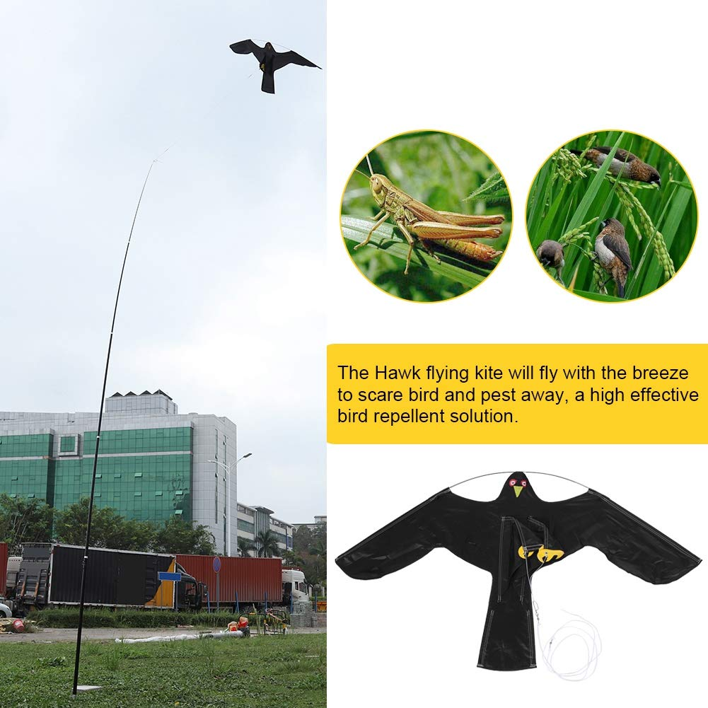 with 7m Telescopic Pole Repelente de p/ájaros Extensible GOTOP Scarer Protect Farmers Crops Flying Bird Kite Scarer Hawk Kite