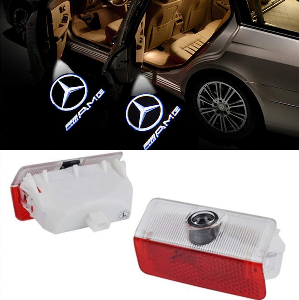 HD voiture Porte lumi/ère QJZoncuji 2 Xvoiture de porte Logo /Éclairage LED Entr/ée /Éclairage