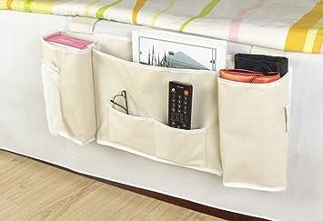 IDecHome Hanging Bed Organizer Nylon Pockets Bedside Sofa Desk Chair  Storage Caddy Phone Book .