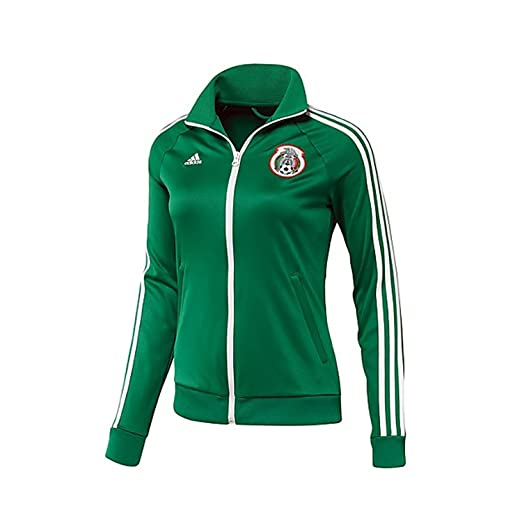 adidas Women s Mexico Soccer Track Top 2014 Warm Up Jacket Authentic -  Green (X- 9d388e990