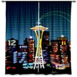 Cheap DiaNoche Designs Window Curtains Lined from Unique, Decorative, Funky, Cool by Corina Bakke Seattle Skyline Sports