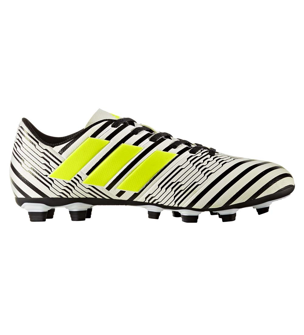 adidas Men's Nemeziz 17.4 FxG Soccer Shoe, White/Solar Yellow/Black, 10 Medium US by adidas