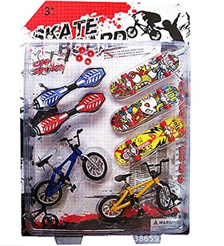 Autone - Juego de bicicletas y monopatín de dedo, 8 piezas ...
