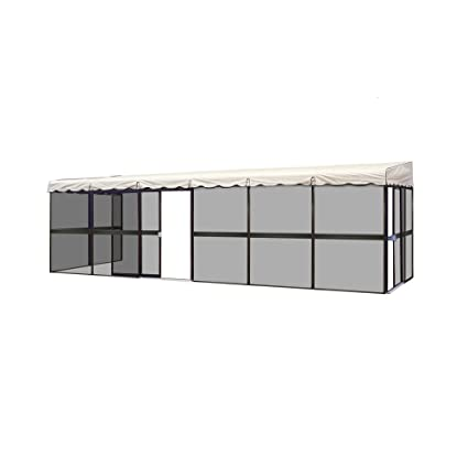 Patio Mate 10 Panel Screen Enclosure 09365, Brown With Almond Roof