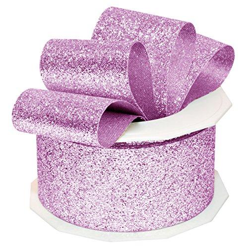 Morex Ribbon 98509/10-611 Princess Glitter Metallic and Nylon Ribbon, 1-1/2-Inch by 10-Yard, Amethyst