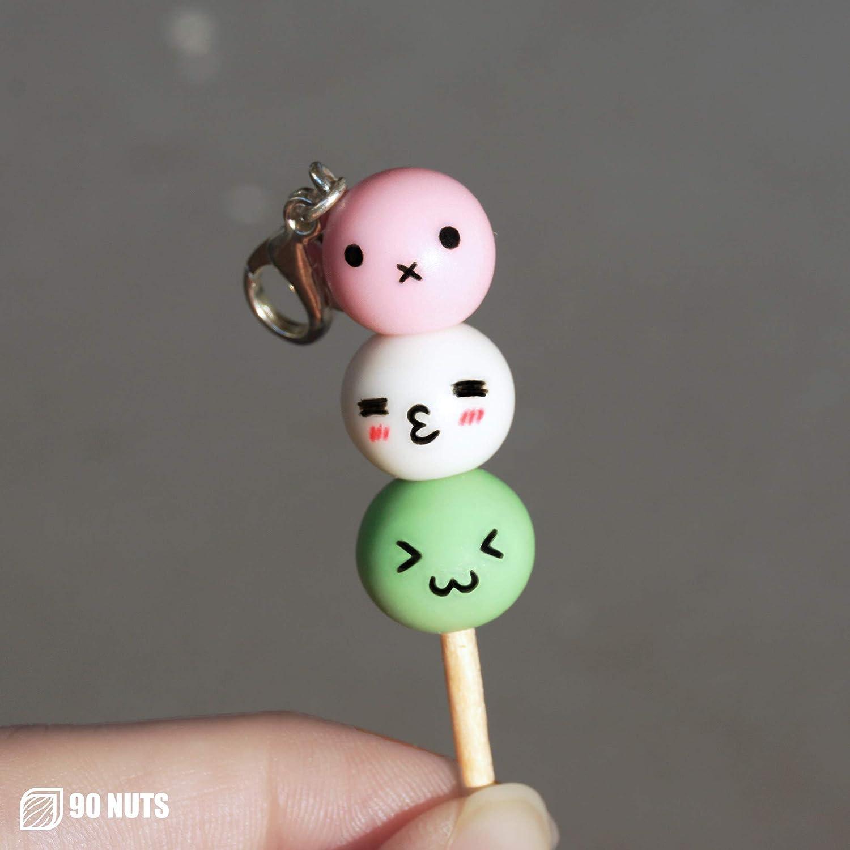 Kawaii Dango Stick Charm Chibi Mochi Keychain Japanese Sweet