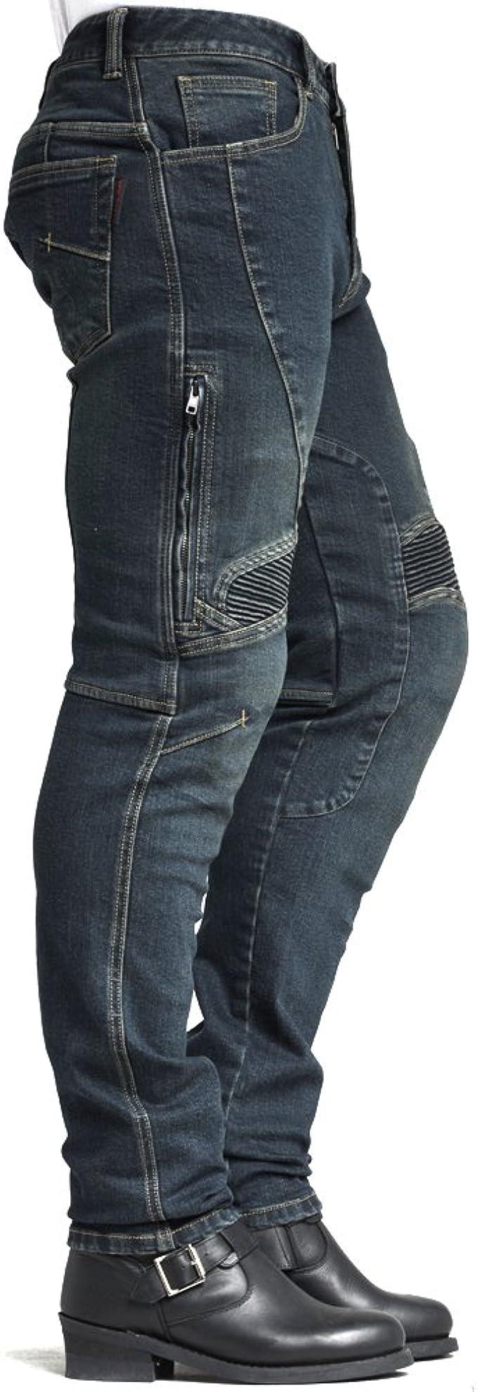 MAXLER JEAN Biker Jeans for men Motorcycle Motorbike riding kevlar Jeans 002 Blue 28