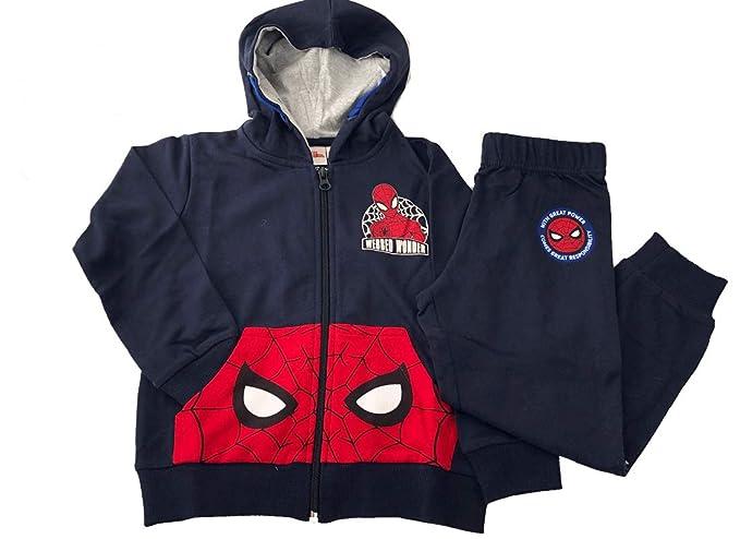5d38991fbc9d5c Completo Spiderman in Cotone 100% per Bambini 46039 Regalo Uomo Ragno  Marvel: Amazon.it: Abbigliamento