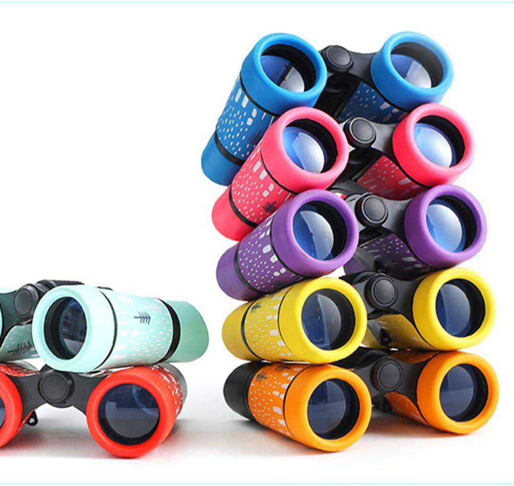 Red NUOBESTY Children Binoculars Kids Telescope Nature Watching Childrens Compact Binocular Birthday Party Favor