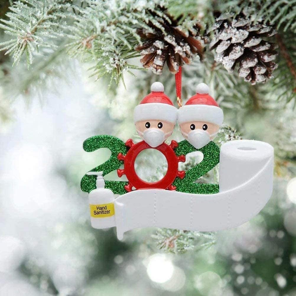 LZZZWER Adorno Familiar Sobrevivido Adornos para /árboles de Navidad 2020 Adorno navide/ño Decoraciones navide/ñas Familia sobrevivida