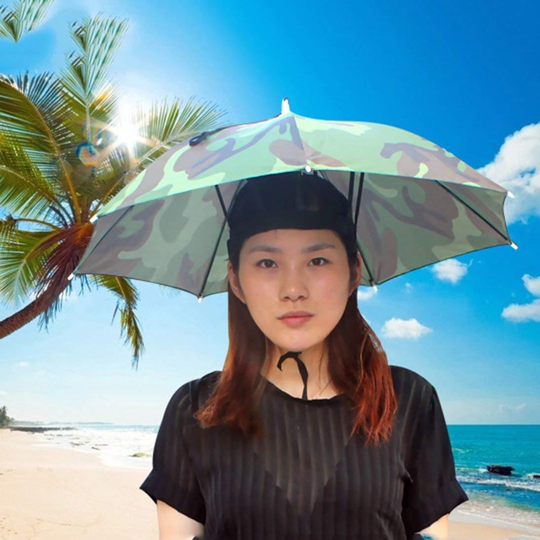 Togames-ES Deportes al Aire Libre portátil 69 cm Sombrero Sombrilla Sombrero  Plegable Mujeres Hombres Paraguas Pesca Senderismo Golf Playa Sombrero Sin  ... e227996b1a6