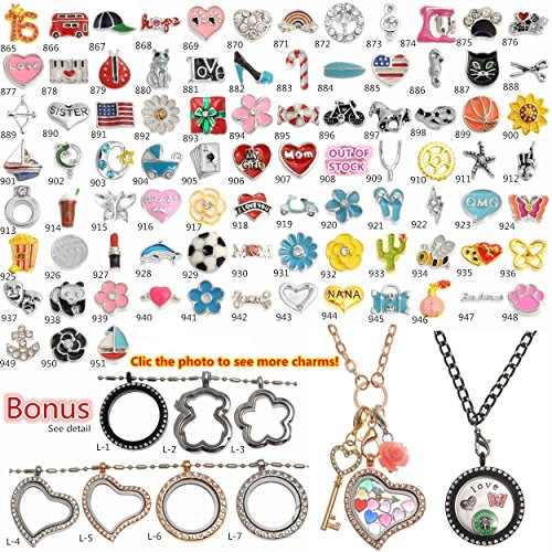 1000 Models Choices Floating Charms For Origami Owl Floating Lockets