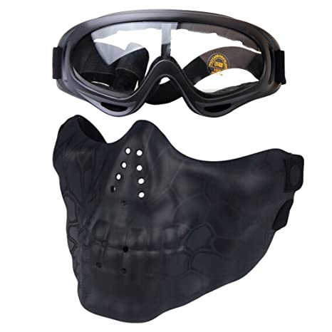 Scoprire alta moda miglior servizio Fansport Airsoft Mask Mezza Maschera Protettiva Anti Impack ...