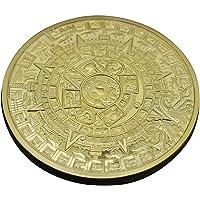 Collection de pièces de monnaie commémorative de la collection maya aztèque maya plaqué or