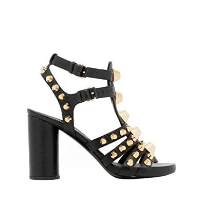 99c86ee3630ca Balenciaga Women s 433234Wad401000o Black Leather Sandals  Amazon.co.uk   Shoes   Bags
