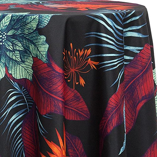(Ultimate Textile Tropical Flowers 60-Inch Round Tablecloth)