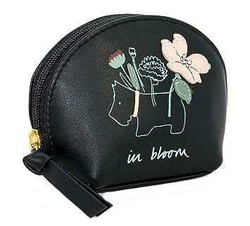 Radley Monedero de Cuero Negro con diseño de Flores: Amazon ...