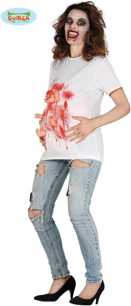 Guirca 88050 - Disfraz de Zombie encintado de Camiseta con recién ...