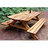 Picnic Table W/Benches Paper Plans SO Easy Beginners Look Like Experts Build Your Own Family Sized for Your Yard Using This Step by Step DIY Patterns by WoodPatternExpert