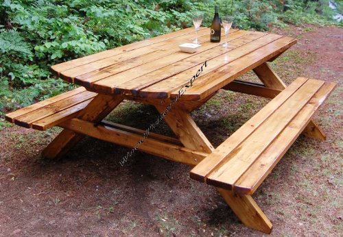 (PICNIC TABLE W/ BENCHES Paper Plans SO EASY BEGINNERS LOOK LIKE EXPERTS Build Your Own FAMILY SIZED FOR YOUR YARD Using This Step By Step DIY Patterns by WoodPatternExpert)