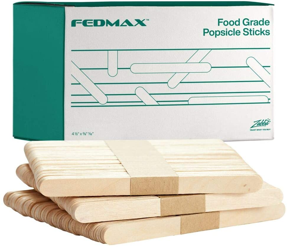 """10 boxes of 1,000 each 10,000 POPSICLE CRAFT STICKS 4-1//2/"""" x 3//8/"""""""