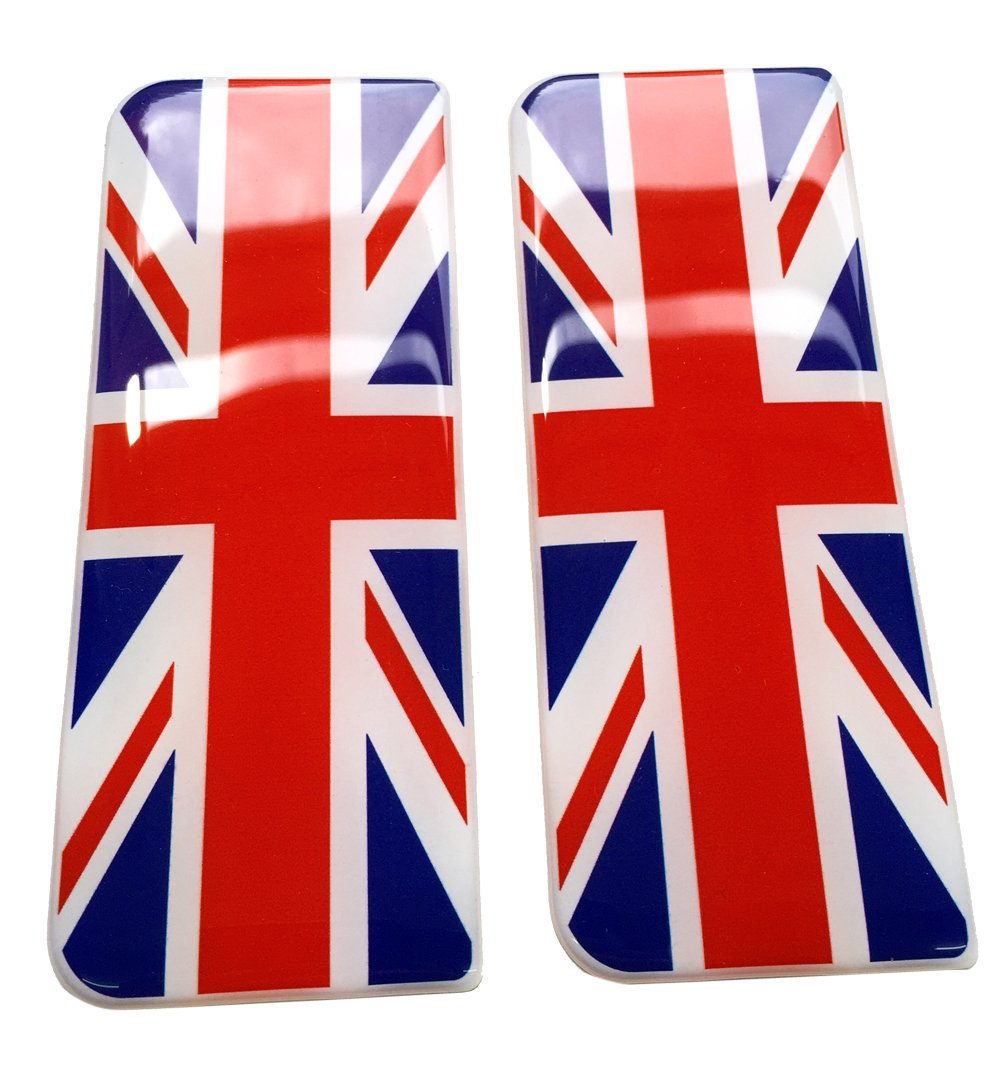 Great Britain Flag Number Plate Gel Domed End Decal